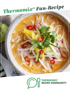 Chicken Laksa by rcavenagh. A Thermomix <sup>®</sup> recipe in the category Main dishes - meat on www.recipecommunity.com.au, the Thermomix <sup>®</sup> Community.