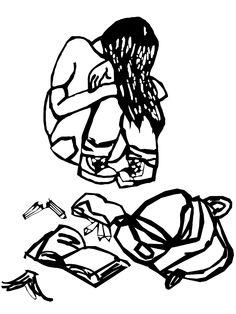 Illustration pour un article sur les violences scolaires, Assez Zoné le magazine de la JOC.