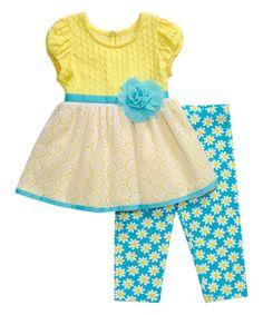 Youngland Dress & Leggings - Infant, Toddler & Girls | zulily