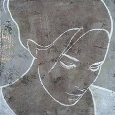 (verkocht) Abstract Portrait, Abstract Art, Painting & Drawing, Art Drawings, Projects To Try, Illustration, Faces, Crafts, Side Profile