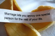 Funny marriage fortune cookie