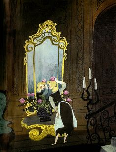 Flower head! #cinderella #mary #blair #illustration #mirror #flower