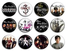 Three Days Grace Music Band Buttons Pins Badges cd New Collection   eBay