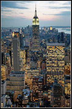 Big City Lights   Skyscraper, New York, Lights