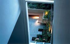 upstairs window garden view