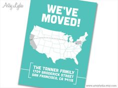 We've Moved  Printable Moving Announcement  cross by ArtsyLydia