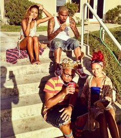 DoffachiGH: Chris Brown spoted with Karrueche at pool side