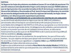 <p>Chihuahua, Chih.- A través de una publicación que circula por las redes sociales, maestros jubilados y pensionados del subsistema federal