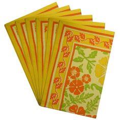 Amazon.com: Rectangular Placemats Washable Set Of 6 Cotton Spring Home Decor: Kitchen & Dining