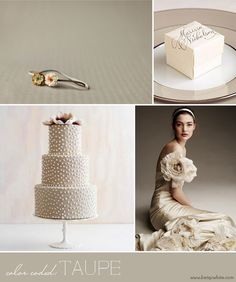 #Taupe inspiration board - love the #cake