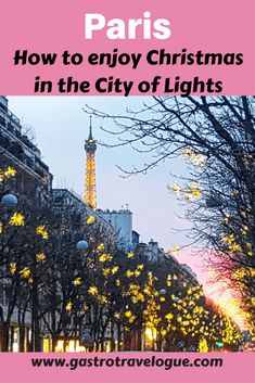 What to do in Paris France at Christmas