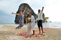 Railay Beach Wedding Package : Mariana + Bruno | Thai Marriage Planner Beach Wedding Packages, Railay Beach, Thailand Wedding, Event Organiser, Wedding Ceremony, Destination Wedding, Style, Mariana, Swag