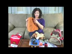 Baby Gizmo Tips & Products for Airplane Travel with a Toddler - YouTube -- bring small wrapped presents, coloring books, crayons, drink bottle, headphones, etc...