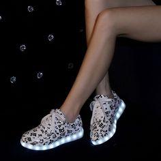 Led Luminous Shoes 2016 Casual Shoes Led Shoes For Women & Men Fashion Adult Led Lights Up Usb Charging Shoes