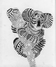Images For > Zentangle Art Animals