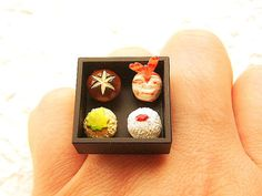 Traditional Japanese Food Ring Sushi Miniature by SouZouCreations