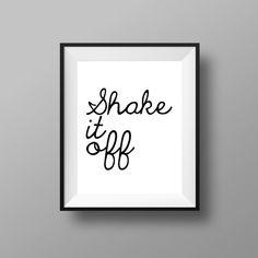Shake It Off  Shake It Off Print  Music Prints  by CreatedByS