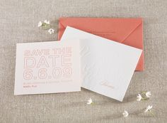 Waaaaay out of my price range, but letterpress invites are gorgeous.