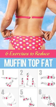 6 Exercises to Reduce Muffin Top Fat..