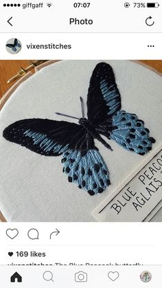 Embroidery butterfly. Wonderful