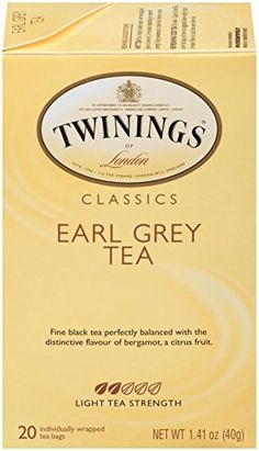 Twinings Black Tea, Earl Grey, 20 Count Bagged Tea Pack) -- Find out more about the great product at the image link. Teas 6, Black Tea Bags, Types Of Tea, Earl Grey Tea, Gourmet Recipes, Count, Image Link, London, Amazon