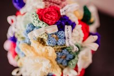 Erin and Mark's Bright and Beautiful 'More is More and Less is a Bore' Woodland Wedding by Ideal Imaging Woodland Wedding, Boho Wedding, Wedding Blog, Non Flower Bouquets, Crochet Bouquet, More And Less, Wedding Inspiration, Bright, Beautiful