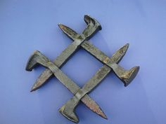 Railroad Spike Sculpture by JDBequette on Etsy, $20.00