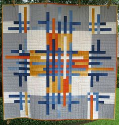 Escape Artist quilt by BGelhausen. Pattern from Elizabeth Hartman's Book Modern Patchwork.