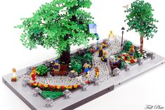 https://flic.kr/p/Rei8eq | City Park (5 of 5) | When the weather is good the city park is the place to be. There is something for everyone! A small city park built for Swebrick's Masterbuilder competition. You can read more about the build at Full Plate Builds :)