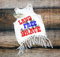 FREE SHIPPING***Land Of The Free Fringe Racerback Tank,Fringe Top/T-shirt,4th of July, Fourth of July,Independence Day,Merica, America by SweetSouthernCraftCo on Etsy