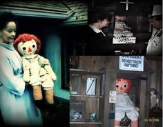 The Conjuring was a true story based on the possessed doll Anabelle, shown here.