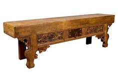 Thierry Carved Low Console on OneKingsLane.com {I LOVE this piece!! Such beauty in the craftsmanship :)}