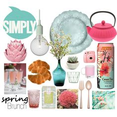 spring brunch by luzang on Polyvore featuring interior, interiors, interior design, maison, home decor, interior decorating, Muuto, Arte Italica, Lenox and Pantone