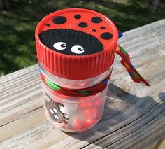 Awesome party favor.  Anybody willing to help me collect jars with red lids?