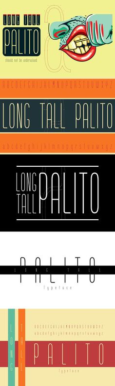 Long Tall Palito Font. Sans Serif Fonts