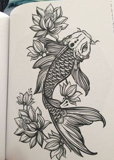 Colorful japanese koi fish with lotus tattoo design koi fish tattoo koi fish tattoo on thigh koi and lotus tattoo fish koi tattoo mightylinksfo Choice Image