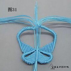 点击查看原图 Macrame Jewelry Tutorial, Macrame Bracelets, Free Macrame Patterns, Micro Macrame, Hand Embroidery Designs, Bracelet Patterns, Knots, Crochet Necklace, Handmade