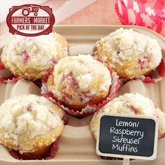 Lemon/Raspberry Streusel Muffins from Taste of Home
