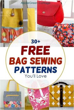 Duffle Bag Patterns, Diaper Bag Patterns, Messenger Bag Patterns, Handbag Patterns, Bag Patterns To Sew, Sewing Patterns Free, Free Sewing, Tote Pattern, Easy Sewing Projects