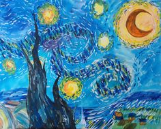 Starry night in the swamp shreveport la painting class for Painting with a twist greenville tx