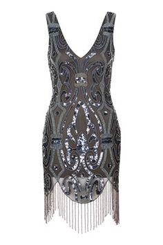 **Embellished Fringe Mini Dress by Rare