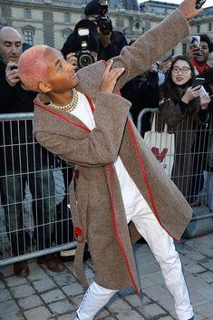 b5c6d5b2241 Spott - Jaden Smith in Paris wearing a Louis Vuitton coat
