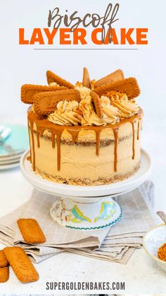 Biscoff Cake with Cookie Butter Buttercream - Supergolden Bakes Biscoff Cake, Biscoff Biscuits, Speculoos Cookie Butter, Salted Caramel Cake, Biscoff Cookies, Cheesecake Frosting, Cupcake Frosting, Cupcakes, Sweets Recipes
