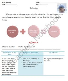 Inferring - Animated short inferring activity product from Your-Smarticle-Shop on TeachersNotebook.com