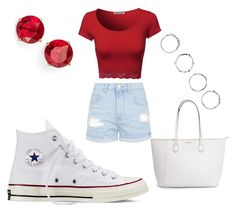 """School Outfit 15"" by emilyolson2019 on Polyvore featuring Topshop, Anne Klein, Converse and Boohoo"