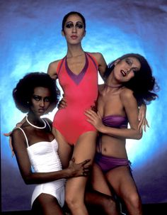 "silk-rayon: """"Angels"" by Klaus Lucka "" 70s Fashion, Fashion Models, Vintage Fashion, Vintage Couture, Vintage 70s, Trendy Fashion, Vintage Style, Supermodel Iman, Iman Model"