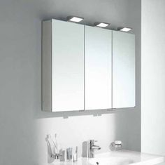 """48 Medicine Cabinet Pace 48"""" Frameless Lighted Triview Medicine Cabinet  Ideas For The"""