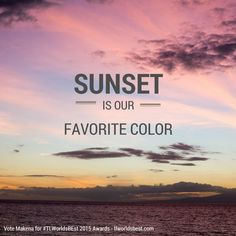 Sunsets are our favorite color! What is yours?