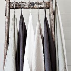 Stonewashed Linen Kitchen Towels