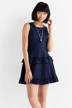 Lexington Ruffle Dress- Francescas- $48.00